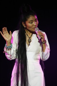 Yungchen Lhamo singing at a Witness Focus for Change benefit event, November 2009.